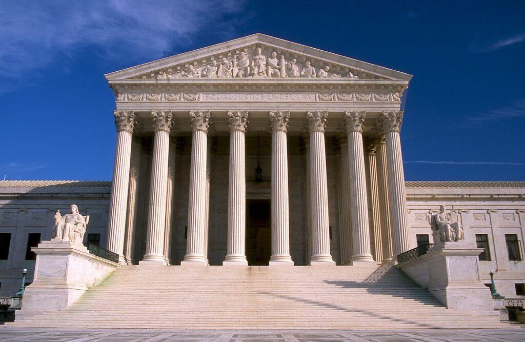 U.S. Supreme Court building depicting appeals