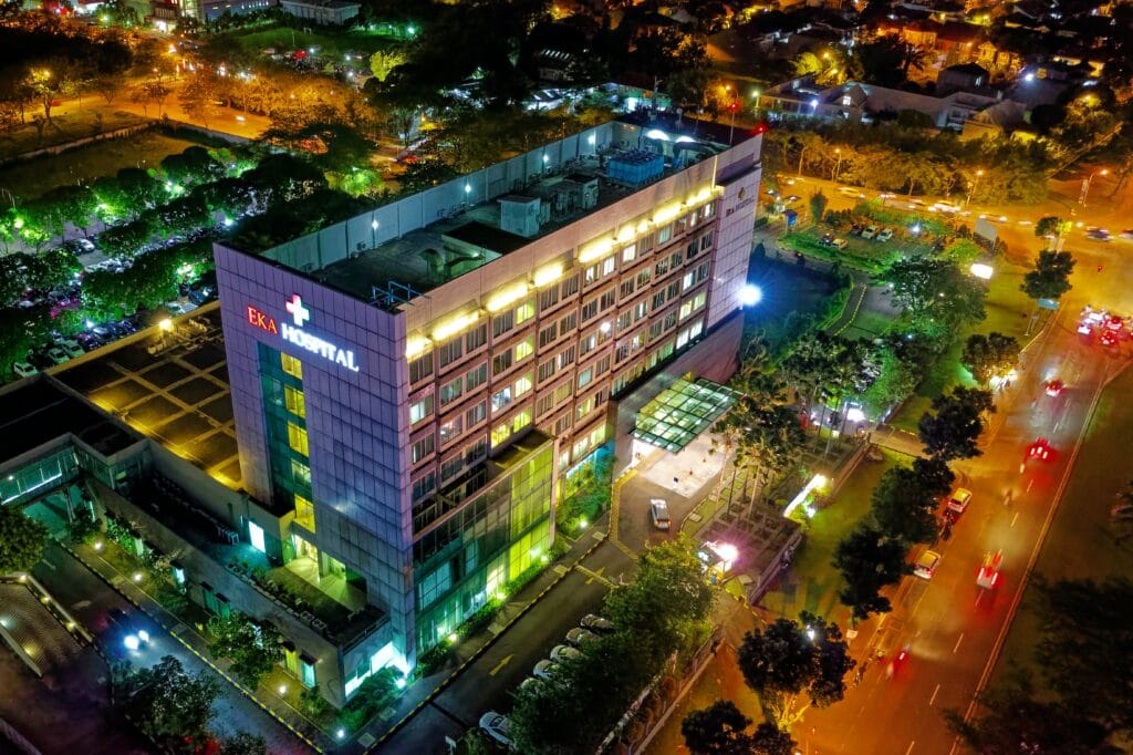 Hospital Building at Night